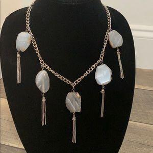 Statement stone necklace